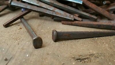 """1.5"""" Old iron square nails 1800s 100cnt 2"""