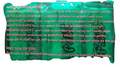 POTTIE PALLIE/ premium toilet seat covers/disposable/easy travel case/10 pack 4