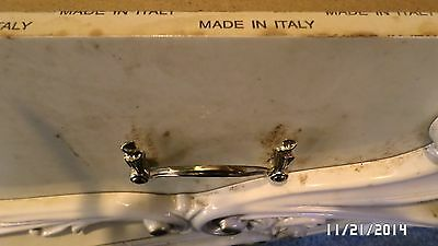 "386D Vtg 10 Ornate Italy Swag Brass Finish 4 3/4"" Drawer Handles 3 3/4"" Center 4"