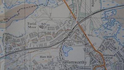 "Ordnance Survey 2.5"" Map SY89/99 Bere Regis 1972 Corfe Mullen Lychett Affpuddle 5"