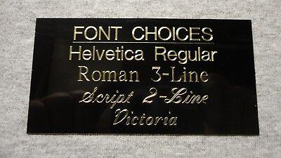 1x3 Custom Engraved Burgundy Brass Plate Notch Corner 2 Holes/Screws Flag Pet 2