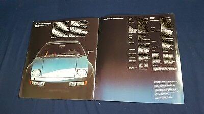 Vintage Porsche 928 Sales Brochure Specs Photos German 1977 VG Condition