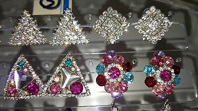 Joblot of 18Pairs Mixed Design Sparkly Diamante stud Earrings-NEW Wholesale lot3 5