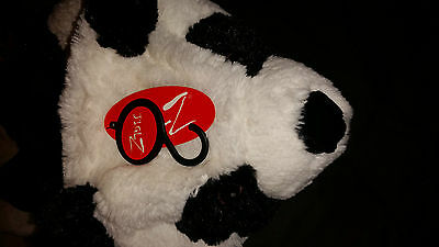 Jiglz Kids Panda Fluffy Body Warmer With Panda Face Hood M/l New With Tags 3