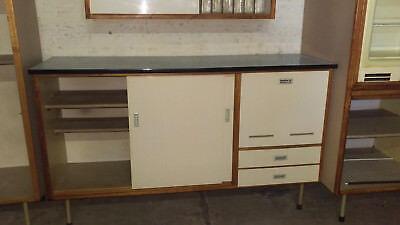 DEKORARTIVE 50ER / 60er Jahre Küche , vintage Küchenblock geometrisches  Design