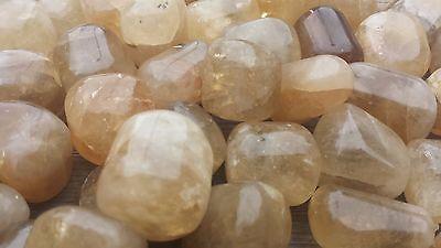 Three (3) Citrine Tumbled Stones Medium/Large Natural Tumble Stones 2