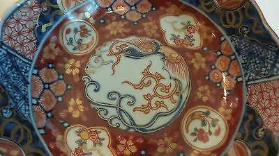 "NICE 19th C. ANTIQUE JAPANESE IMARI 6"" BOWL, MEIJI PERIOD,  c. 1868-1913, SIGNED 3"