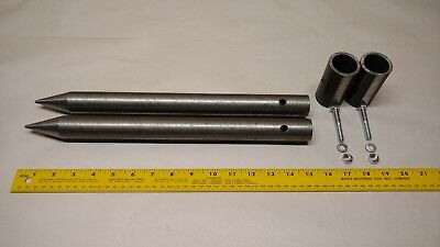 New - Round Bale Stabilizer Spike / Spear / Mover / Tine / With Mounting Sleeves 2