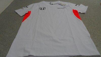 "Official McLaren Honda 2015 Men/'s Sponsor Cotton T-Shirt 48//50/"" XXL Size"