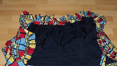 Ankara African Print Red, Black, Yellow & Beige Skirt & Jacket Top UK 12-14 / M 5