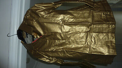 Marks & Spencer Autograph M&S Metallic Gold Raincoat Coat Mac Age 10 - 11 Bnwt 7