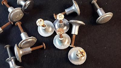 Lot of 14 vintage drawer pulls silver color with Hardware 3