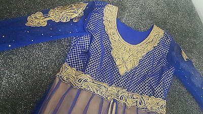 bollywood indian partywear churidar net anarkali eid dress NEW 3