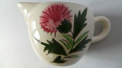 "STANGL THISTLE small Cream Pitcher 3"" tall Mid-Century Pink Green pottery PRETTY 9"