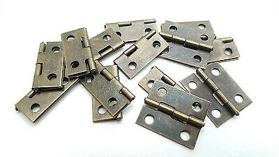 Small Hinges With Screws Bronze Jewellery Box Dolls House 2, 8, 14, 22 or 98 2