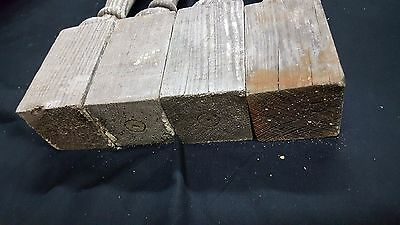 Architectural Salvage 4 Wooden Spindles Balusters 3 Collar Design 6