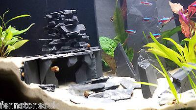 Fennstones large standing stone natural slate furnishing aquarium fish tank