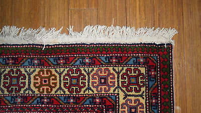 Antique Authentic 100% Wool Hand Made Knotted Vintage Kazak Rug 8