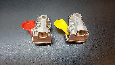 Kupplungsköpf standard gelb und Rot für Bremse,BPW M22x1,5 Anhänger LKW,Dolly