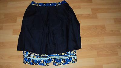 Ankara African Print Blue, Black & Beige Multi Skirt & Jacket Top UK 12-14 / M 9