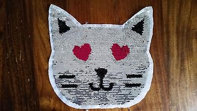 Blume Katze Patch Aufbügler Aufnäher Kawaii Basteln DIY Kleidung Deko Verzierung