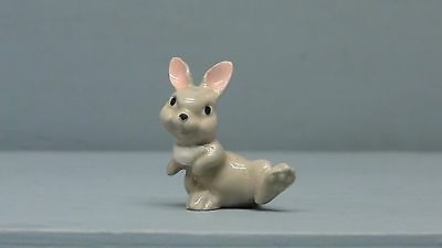 Hagen Renaker miniature made in America Lopear rabbit crouching retired VHTF