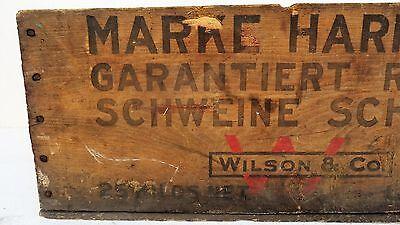 Tante Emma Laden Krämerladen alte Holzkiste Harrison Made in USA Schmalz Schwein 3