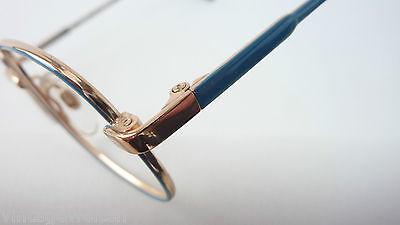 Visiblia Markengestell Kinderbrille Pilotenform Metallfassung frame blau-gold 3