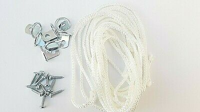 Picture Frame D Ring + Screws With Cord Nickel Canvas Hook Hanger 10 or 20 sets 3