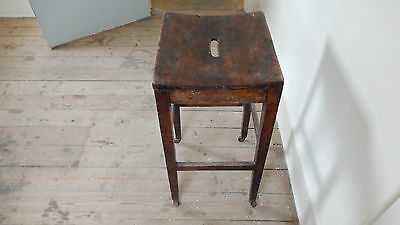 ANTiQUE / VINTAGE SCHOOL STOOL  Possibly Victorian or Edwardian 11