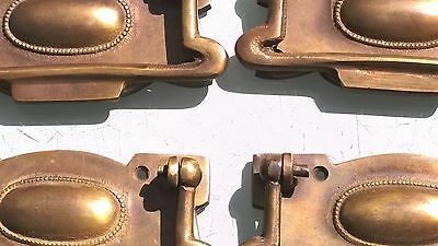 8 large cabinet handles brass furniture vintage age old style 110mm heavy 4