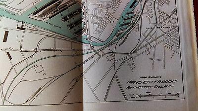 1910 Map of Manchester Docks England South Quay Trafford Park Estate Salford 2