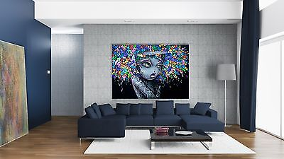 xxl bild popart 150x100x5 gem lde leinwand graffiti malerei neu lounge ikea eur 119 00. Black Bedroom Furniture Sets. Home Design Ideas
