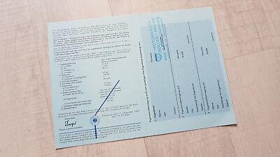 Duplikat blanko NSU Quickly N23 ABE Typschein N 23 Händlerstempel