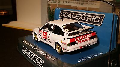 SCALEXTRIC Slot Car 1:32 Ford Sierra RS500 Black DPR Lights New HIGHLY DETAILED