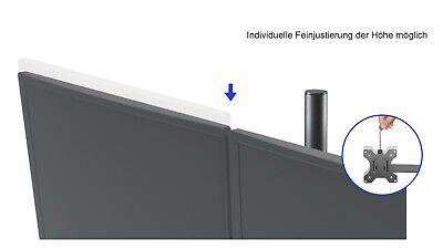 Dual Monitor Schwenkarm Tisch Halterung Doppel Halter 2x 8KG Office-414 4