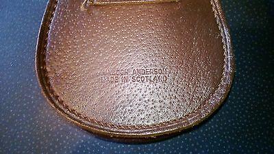 Scottish Leather Cow Hide Pouch/Sporran Money purse chained strap 8
