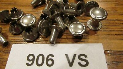 100pcs LG. VINTAGE #906 N.P.SOLID BRASS SPEEDY RIVETS USA VINTAGE NIC. on Brass