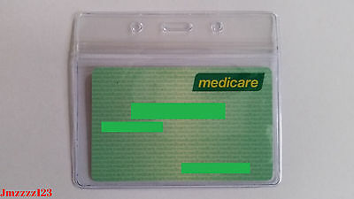 5 PCs Clear Plastic Horizontal ID Card Holder with ZIPPER ***AUSSIE SELLER*** 7