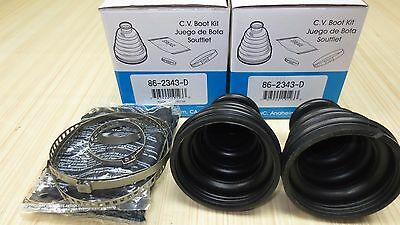 Set 2 EMPI Outer CV Axle Boot Kit for Polaris Big Boss 400L 1995-1997 with 6x6