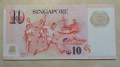 SINGAPORE $10 Dollars ND 2005 P48g 'Sports' 2 diamonds UNC Banknote