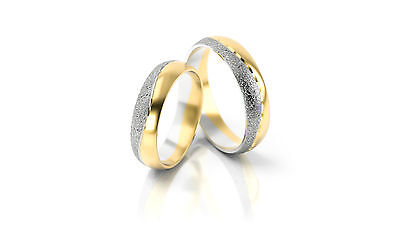 1 Paar Trauringe Eheringe Hochzeitsringe Gold 333 Bicolor Breite