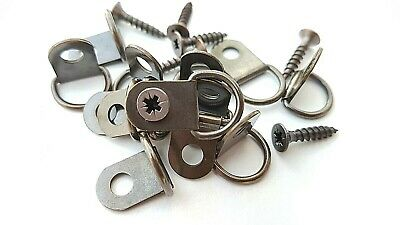 Small D Rings Picture Frame Hangers Canvas Bronze Hooks With Screws Artist 3