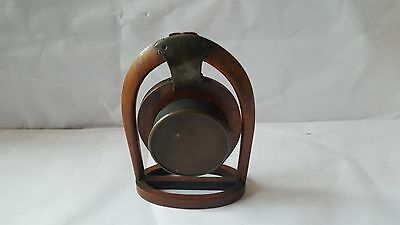 Late19th Century Japy Freres Horseshoe Clock and Key A/F 9