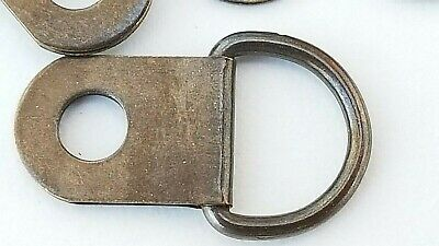 Small D Rings Picture Frame Hangers Canvas Bronze Hooks With Screws Artist 6