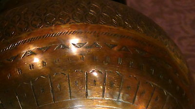 Antique 18C Islamic Copper Punjab Water Pitcher,jug Hand Engraved Islamic 6