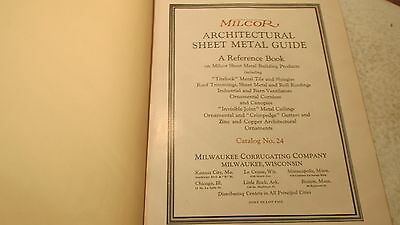1924 Milcor Sheet Metal guide Cat. No. 24 2
