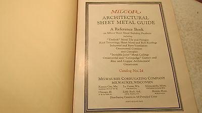 1924 Milcor Sheet Metal guide Cat. No. 24 2