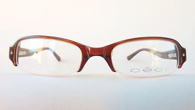 Brillen-Fassung Brille für Damen in braun Halbrand Plastik preiswert Grösse M