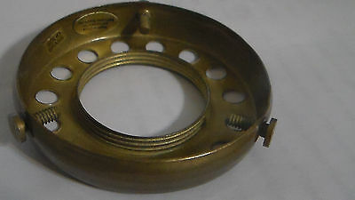 """NEW 2 1/4"""" Fitter Screw-on Uno-type Shade Holder Antique Finish Brass  #SHH86A 4"""